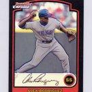 2003 Bowman Chrome Refractor Baseball #129 Alex Rodriguez - Texas Rangers