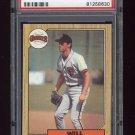 1987 Topps Baseball #420 Will Clark RC - San Francisco Giants Graded PSA Mint 9