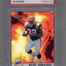 2001 Finest Football #114 Rudi Johnson RC - Cincinnati Bengals Graded PSA GEM MT 10 /1000