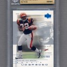 2001 UD Graded Football #69 Rudi Johnson - Cincinnati Bengals /900 Graded BGS 9.5 GEM MINT