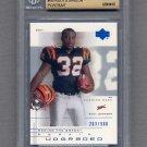 2001 UD Graded Football #69P Rudi Johnson RC - Cincinnati Bengals /900 Graded BGS 9.5 GEM MINT