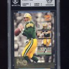 1996 Score Numbers Game #3 Brett Favre - Green Bay Packers Graded BGS 8.5 NM-MT+