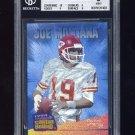 1994 Select Canton Bound #CB3 Joe Montana - Kansas City Chiefs Graded BGS 9.0 MINT