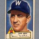 1952 Topps Baseball #094 Sam Mele - Washington Senators