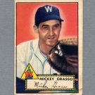 1952 Topps Baseball #090 Mickey Grasso - Washington Senators