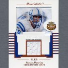 2002 Fleer Focus JE Materialistic Plus #03 Peyton Manning - Colts Game-Used Jersey /250