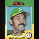 1975 Topps Baseball #545 Billy Williams - Oakland A's