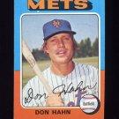 1975 Topps Baseball #182 Don Hahn - New York Mets