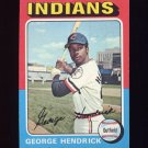 1975 Topps Baseball #109 George Hendrick - Cleveland Indians
