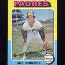 1975 Topps Baseball #084 Enzo Hernandez - San Diego Padres