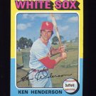 1975 Topps Baseball #059 Ken Henderson - Chicago White Sox
