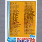 1982 Topps Baseball #491 Checklist 397-528 NM-M