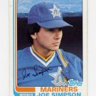 1982 Topps Baseball #382 Joe Simpson - Seattle Mariners