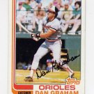 1982 Topps Baseball #037 Dan Graham - Baltimore Orioles