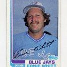 1982 Topps Baseball #019 Ernie Whitt - Toronto Blue Jays