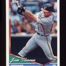 1994 Topps Baseball #612 Jim Thome - Cleveland Indians