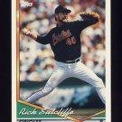 1994 Topps Baseball #091 Rick Sutcliffe - Baltimore Orioles