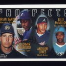 1996 Topps Baseball Prospects #435 Brian Banks / Vladimir Guerrero / Andruw Jones / Billy McMillon