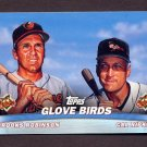 2001 Topps Baseball Combos #TC3 Glove Birds with Brooks Robinson and Cal Ripken