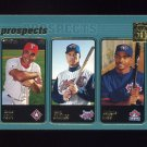 2001 Topps Baseball #731 Carlos Pena / Larry Barnes / DeWayne Wise