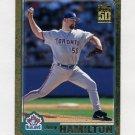 2001 Topps Gold Baseball #705 Joey Hamilton - Toronto Blue Jays 1653/2001