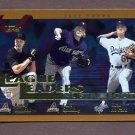 2002 Topps Baseball #348 Randy Johnson / Curt Schilling / Chan Ho Park