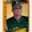 2002 Topps Chrome Gold Refractors Baseball #299 Art Howe MG - Oakland A's