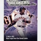2003 Topps Record Breakers Baseball #BB1 Barry Bonds - San Francisco Giants