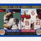 2003 Topps Baseball #350 AL/NL Division Twins/Cards