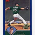 2003 Topps Baseball #316 Mark Malaska RC - Tampa Bay Devil Rays