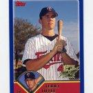 2003 Topps Baseball #310 Terry Tiffee RC - Minnesota Twins