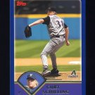 2003 Topps Baseball #011 Curt Schilling - Arizona Diamondbacks