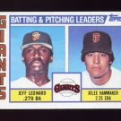 1984 Topps Baseball #576 San Francisco Giants TL Jeff Leonard / Atlee Hammaker / Team Checklist