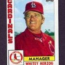 1984 Topps Baseball #561 Whitey Herzog MG - St. Louis Cardinals