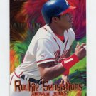 1997 Fleer Baseball Rookie Sensations #15 Andruw Jones - Atlanta Braves