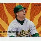 1997 Fleer Baseball Golden Memories #04 Mark McGwire - Oakland A's