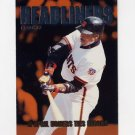 1997 Fleer Baseball Headliners #03 Barry Bonds - San Francisco Giants