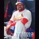 1997 Fleer Baseball Tiffany #455 Dmitri Young - St. Louis Cardinals