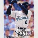 1997 Fleer Baseball #337 Devon White - Florida Marlins