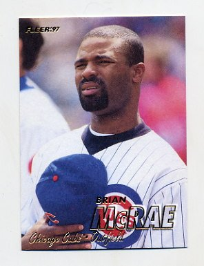 1997 Fleer Baseball 280 Brian Mcrae Chicago Cubs