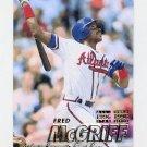 1997 Fleer Baseball #264 Fred McGriff - Atlanta Braves