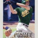 1997 Fleer Baseball #190 Jason Giambi - Oakland A's