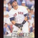 1997 Fleer Baseball #018 Jose Canseco - Boston Red Sox