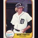 1981 Fleer Baseball #462 Mark Fidrych - Detroit Tigers