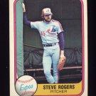 1981 Fleer Baseball #143 Steve Rogers - Montreal Expos