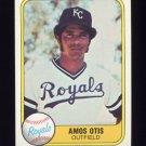 1981 Fleer Baseball #032A Amos Otis - Kansas City Royals