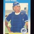 1987 Fleer Baseball #599 Steve Yeager - Seattle Mariners