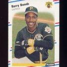 1988 Fleer Baseball #322 Barry Bonds - Pittsburgh Pirates