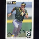 1994 Collector's Choice Baseball Silver Signature #180 Scott Lydy - Oakland A's