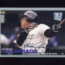1995 Collector's Choice SE Baseball Silver Signature #205 Andres Galarraga - Colorado Rockies
